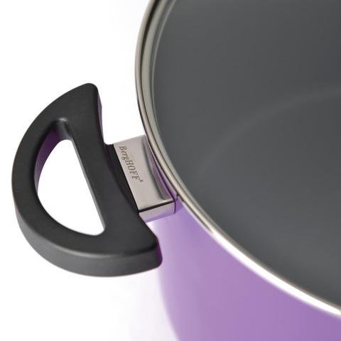 Кастрюля с крышкой 16см 2л (фиолетовая) Eclipse