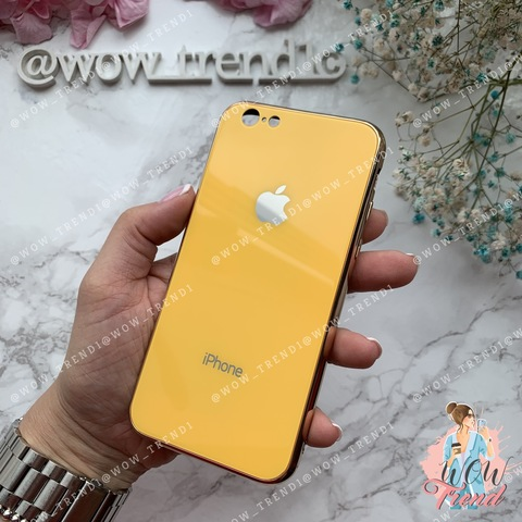 Чехол iPhone 6/6S Glass Case Logo /yellow/