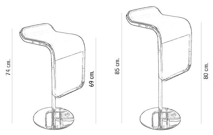 Барный стул LEM  Style Piston Stool белая кожа - вид 8