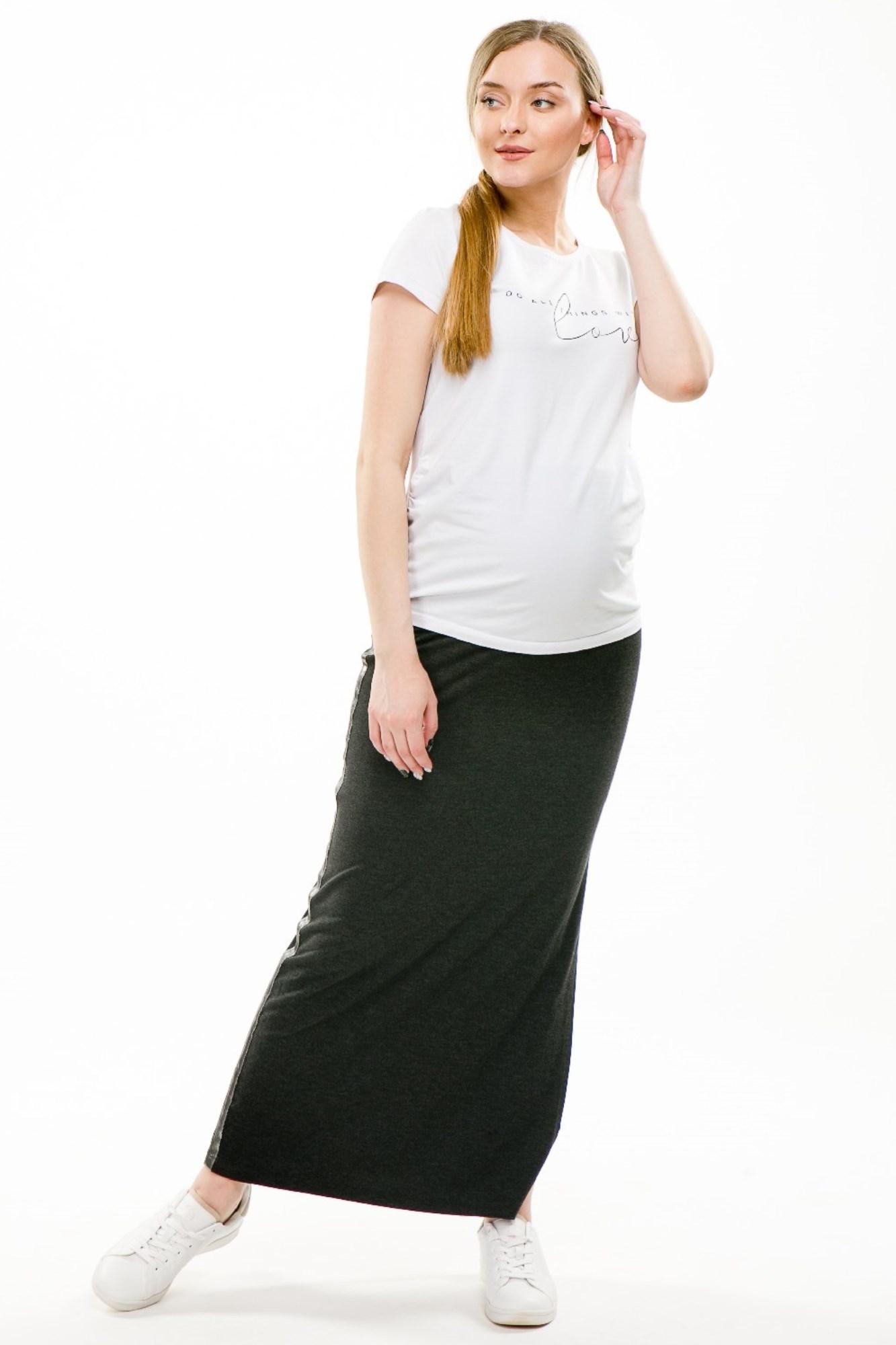 Юбка для беременных 09062 темно-серый