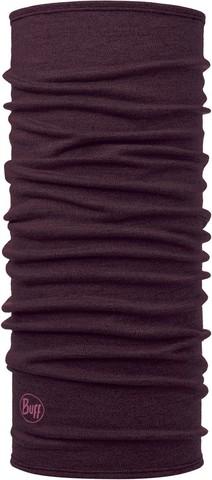 Шерстяной шарф-труба Buff Wool midweight Solid Deep Puprle фото 1