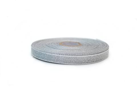 Лента серебряная,0,6см