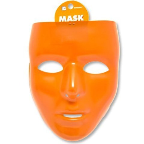 Маска пластик оранжевая