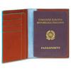 Обложка для паспорта Piquadro Blue Square, коричневая, 10,5x14x1,2 см