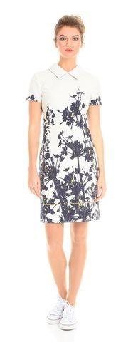 Фото повседневное жаккардовое платье-футляр с цветочным принтом - Платье З083-527 (1)