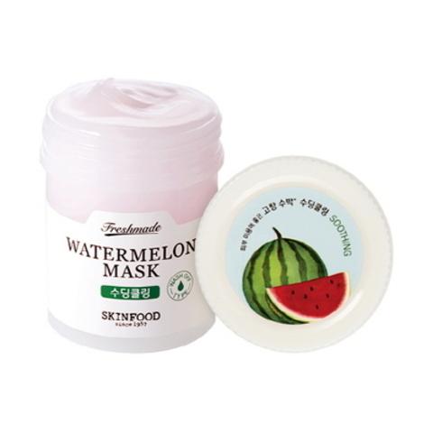 Увлажняющая и успокаивающая маска для лица с экстрактом арбуза Skinfood  Freshmade Watermelon Mask