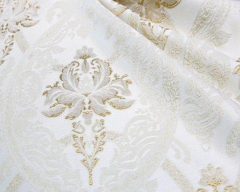 Портьерная ткань Лукреция жаккард с рисунком кремовый