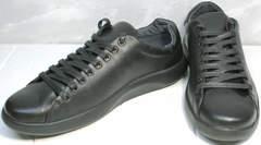 Кроссовки натуральная кожа мужские GS Design 5773 Black