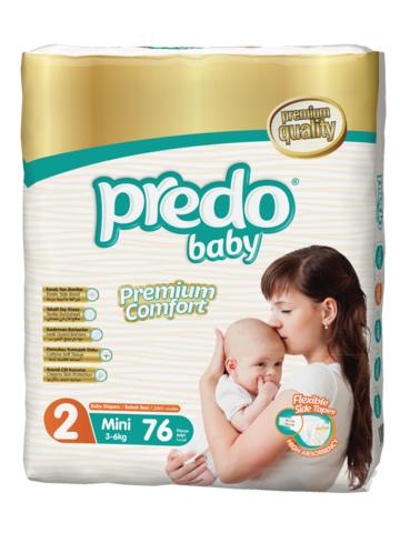 Predo. Подгузники Baby Гигантская пачка № 2 (3-6 кг Mini), 76 шт.