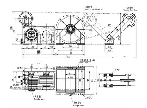 Фрикционная лебедка IMYJ466-300-900-27-ZPG