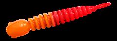 Силиконовые приманки Trout Bait Chub 65 (65 мм, цвет: Оранжево-красный, запах: чеснок, банка 12 шт.)