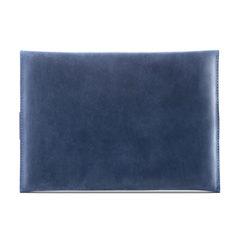 Синий горизонтальный кожаный чехол Gmakin для iPad