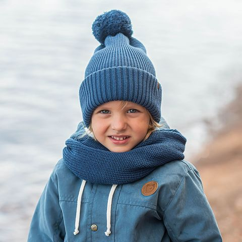 Knitted snood - Deep Blue