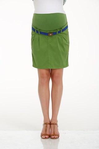 Юбка для беременных 06531 зеленый