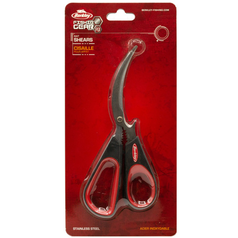 Ножницы Berkley BTBS Bait Shears 18 см. Red/Black