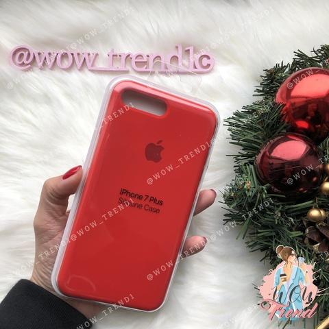 Чехол iPhone 7+/8+ Silicone Case /red/ красный original quality