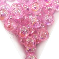 Купить оптом бусины Pink AB светло-розовые в Москве дешево