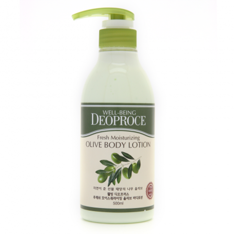 DEOPROCE BODY Лосьон для тела с экстрактом оливы WELL-BEING FRESH MOISTURIZING OLIVE BODY LOTION 500ml