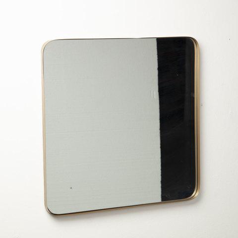 Зеркало Marcus 60x60 золотое