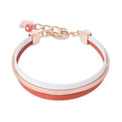 Браслет Coeur de Lion 0221/30-0214 цвет розовый, оранжевый, белый