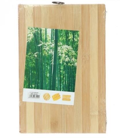 Доска разделочная с ручкой (бамбук) 1.7см, 22х32 см