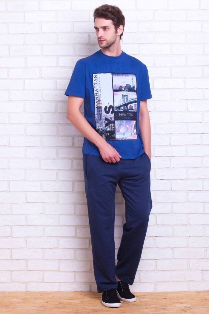 Пижамы мужские. костюмы и брюки Костюм для спорта и отдыха MANHATTAN синий PECHE MONNAIE   Франция MANHATTAN3.jpg