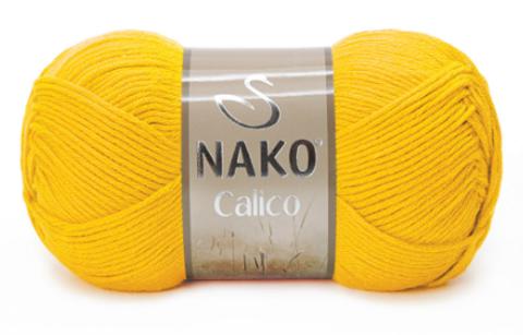 Пряжа Nako Calico желток 4285