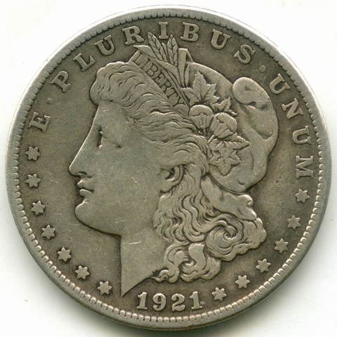 1 доллар 1921 (S). США VF (Морган)
