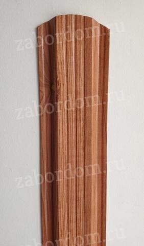 Евроштакетник металлический 115 мм Золотое дерево 3D П - образный двусторонний 0.5 мм