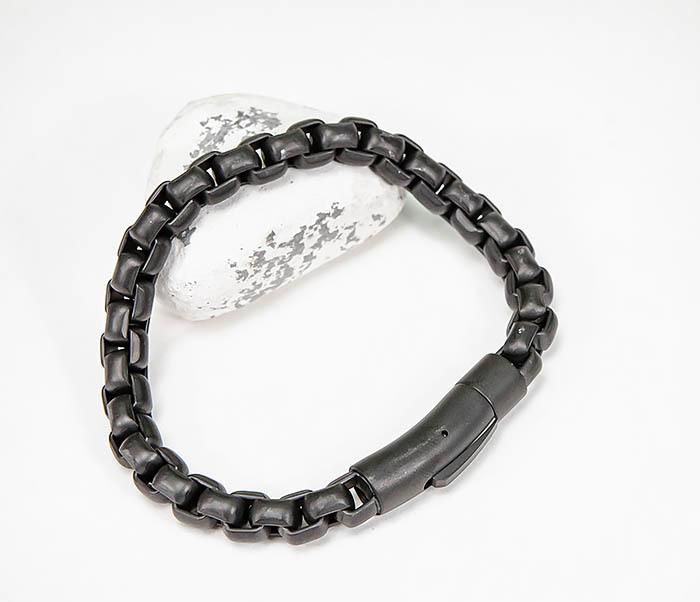 BM579-3 Черный браслет из стали с матовым покрытием фото 08