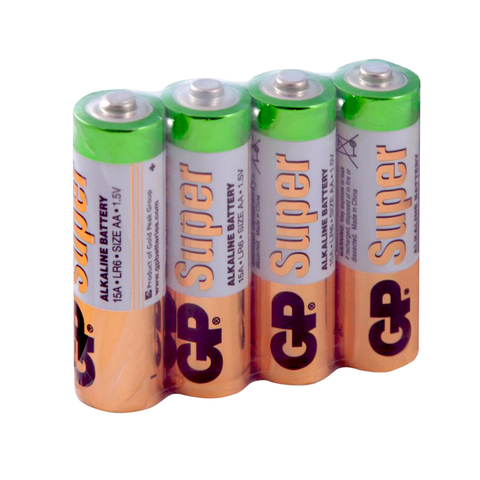Элемент питания LR06/4S AA (15ARS-2SB4) (4/96/384) GP Super Alkaline