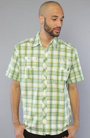 Рубашка зеленая в клетку фото спереди