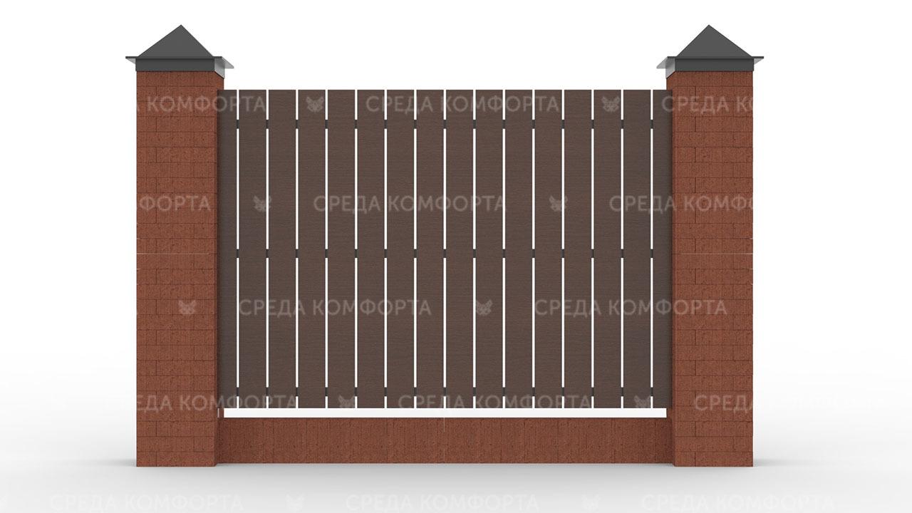 Деревянный забор ZBR0008