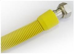 """Подводка для газа Udi/Primo сильфонная с покрытием ПВХ 1/2"""", длина=2,00-4,00 м, г/г."""