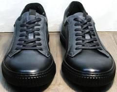 Кеды из кожи мужские Komcero 9K9154-734 Black-Grey