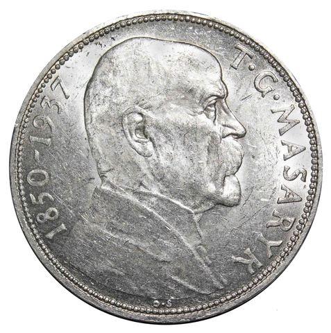 20 крон. На смерть президента Масарика. Чехословакия. 1937 год. Серебро AU