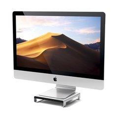 Подставка Satechi USB-C Aluminum iMac Stand USB-C хаб, серебристый