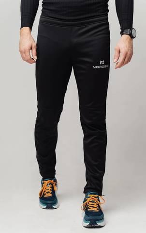 Разминочные брюки Nordski Jr.Base black подростковые