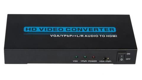 Компонентный (YPbPr + звук) сигнал или VGA со звуком в HDMI ( VGA / YPbPr + Audio to HDMI Converter)