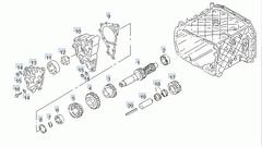 Шестерня заднего хода МАН ТГА/MAN TGA 22 заб. Шестерня промежуточного вала ZF 16S151 (1315.305.011/1290946(DAF)/93190486  17 81323150070 Рециркуляционное колесо