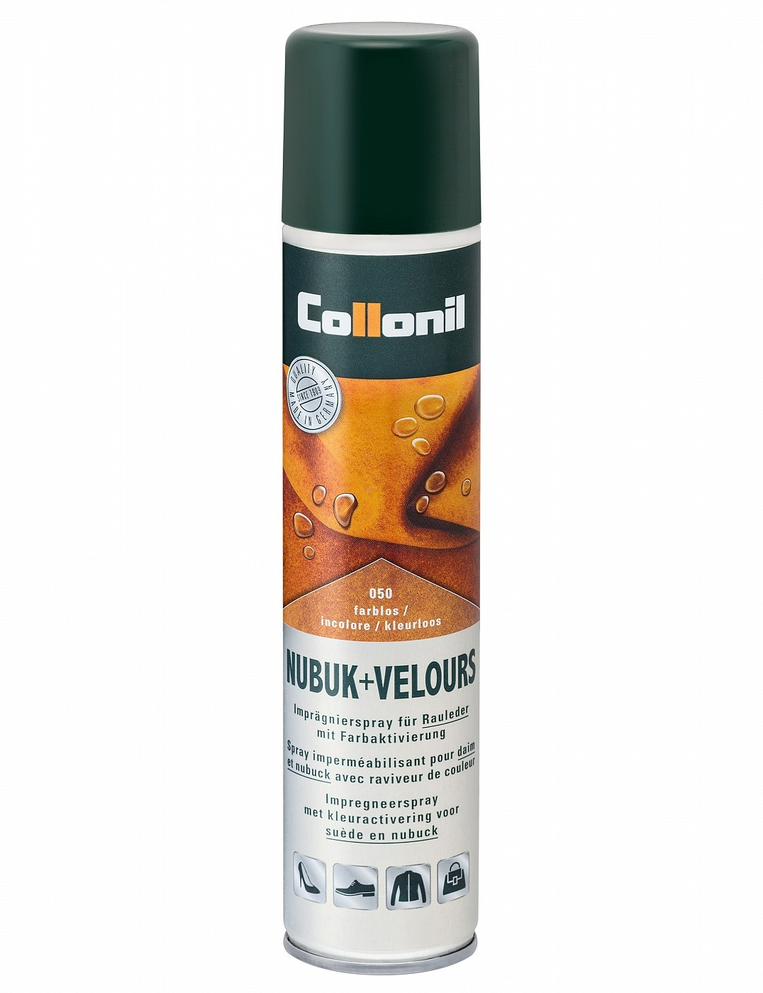 COLLONIL Nubuk-Velours Spray, универсальный спрей для ворсовых видов кож, 200 мл