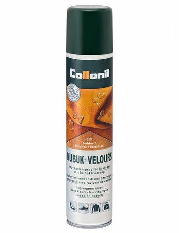 COLLONIL Nubuk-Velours Spray, универсальный спрей для ворсовых видов кож, 200 мл