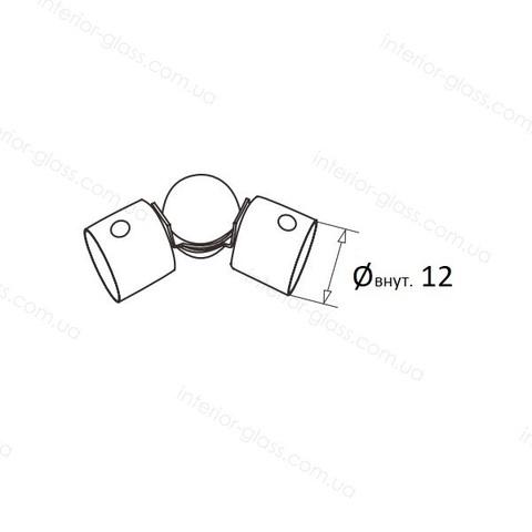 Шарнирный соединитель леера D=12 мм ST-428