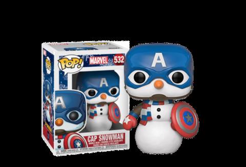 Фигурка Funko POP! Bobble: Marvel: Holiday: Capt America 43335