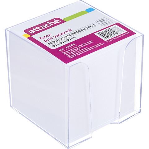 Блок для записей Attache 90x90x90 мм белый в боксе (плотность 80 г/кв.м, белизна 90 процентов)