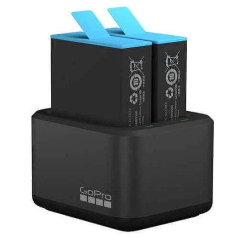 Зарядное устройство для двух аккумуляторов GoPro HERO9/HERO10 Black Dual Battery Charger + Battery