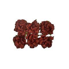 Розы из бумаги кудрявые 2 см, 8 шт.