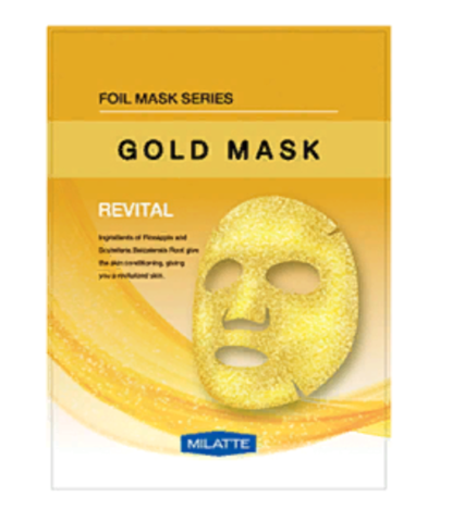 МЛТ Маска на тканевой основе для лица витаминная MILATTE GOLD MASK_REVITAL 23гр