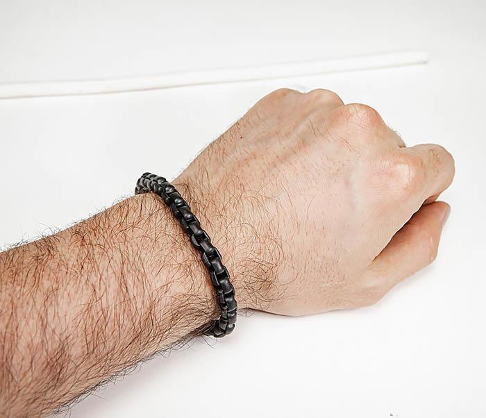 BM579-3 Черный браслет из стали с матовым покрытием фото 10