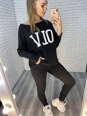 женский спортивный костюм черного цвета nadya